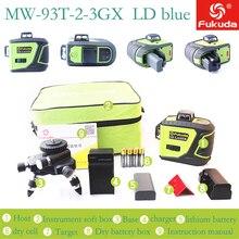 MW-93T-2-3GX 12 линий Osram синий лазерный уровень с батареей 3D лазерный луч 360 горизонтальный и вертикальный крест мощный