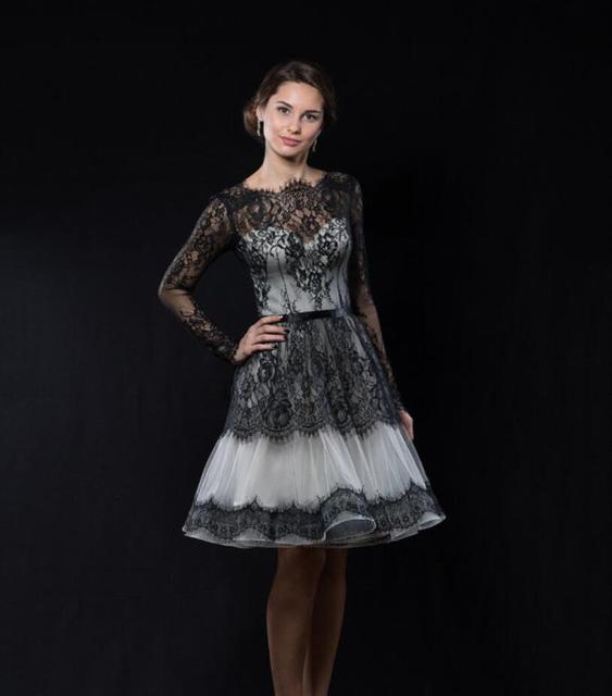 Gothic Long Sleeve Short Dresses
