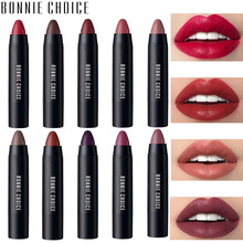 Купить с кэшбэком BONNIE CHOICE 10 Colors Matte Lipsticks Waterproof Matte Velvet Lip Sticks Cosmetic Easy to Wear Lipstick Matte Beauty Lipstick