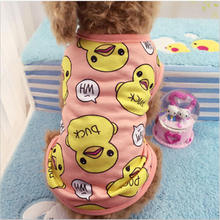 Cute Style Dog Vests Spring Pet Clothes T-shirt Soft Dogs Summer Teddy Printed Shirt Jersey Puppy Clothing Apparel