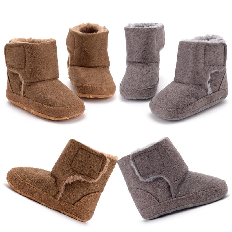 Infant Baby Boys Girls Boots Soft Sole Solid Cotton Infant Kids Shoes Prewalker Anti-slip Toddler Nowborn Boots Slippers