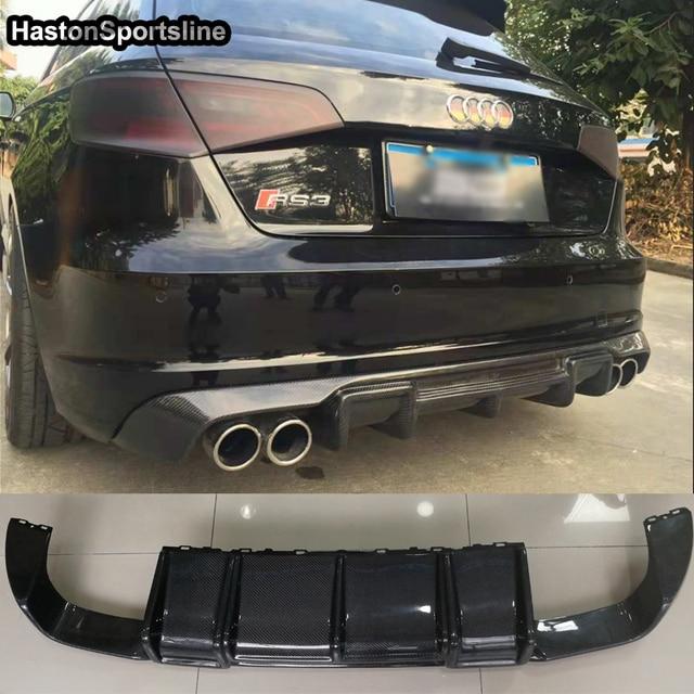 Us 311 99 22 Off A3 8v S3 Sline Carbon Fiber Rear Bumper Lip Diffuser For Audi A3 Sline S3 Hatchback 2013 2016 Not Fit Standard A3 In Bumpers