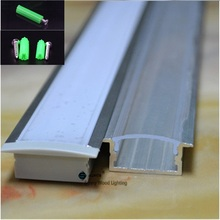 5-30pcs/lot 40inch 1m long led channel embedded aluminum profile for double row led strip,milky/transparent cover for 20mm pcb