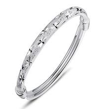 NEHZY 925 en argent sterling femme la nouvelle mode bijoux bracelet belle coulissante bracelets étoiles rétro
