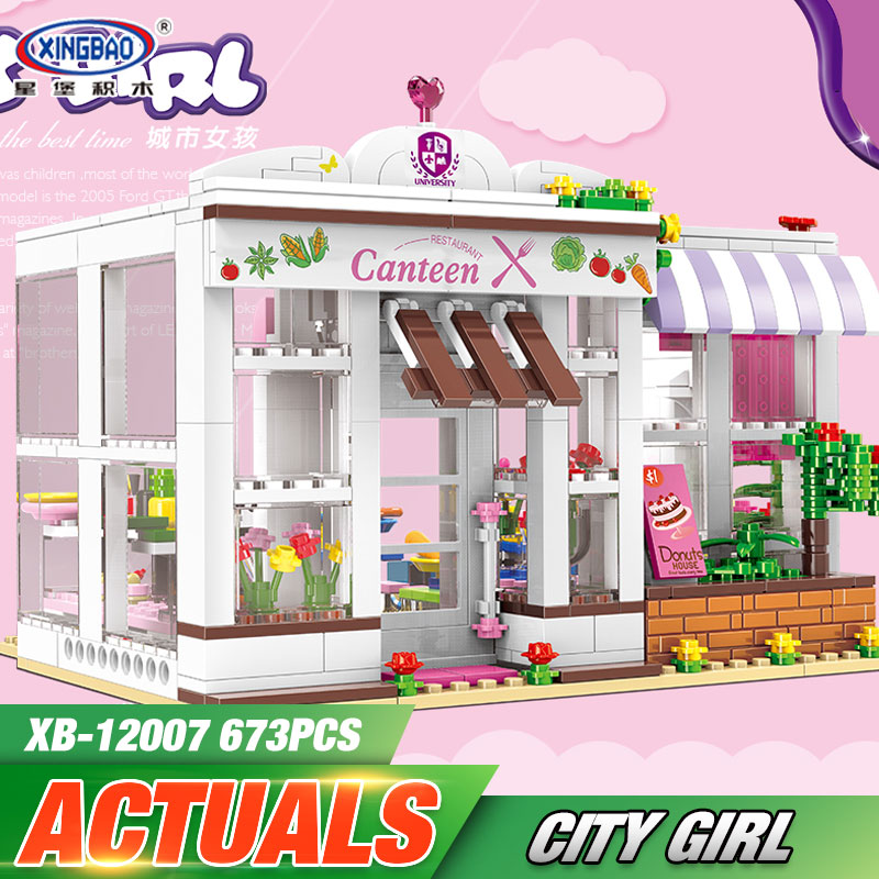 XINGBAO 12007 New Toys 673Pcs Girl Series The University Dormitory Set Building Blocks Bricks Educational Funny Kids Toys Gifts the girl with all the gifts