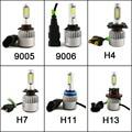 2 Unids Garantizado Coche LED Faros 9007 H3 H4 H7 H11/H8/H9 HB3/9005 HB4/9006 8000LM Super Power Kit Bombilla de Repuesto Para Mazda