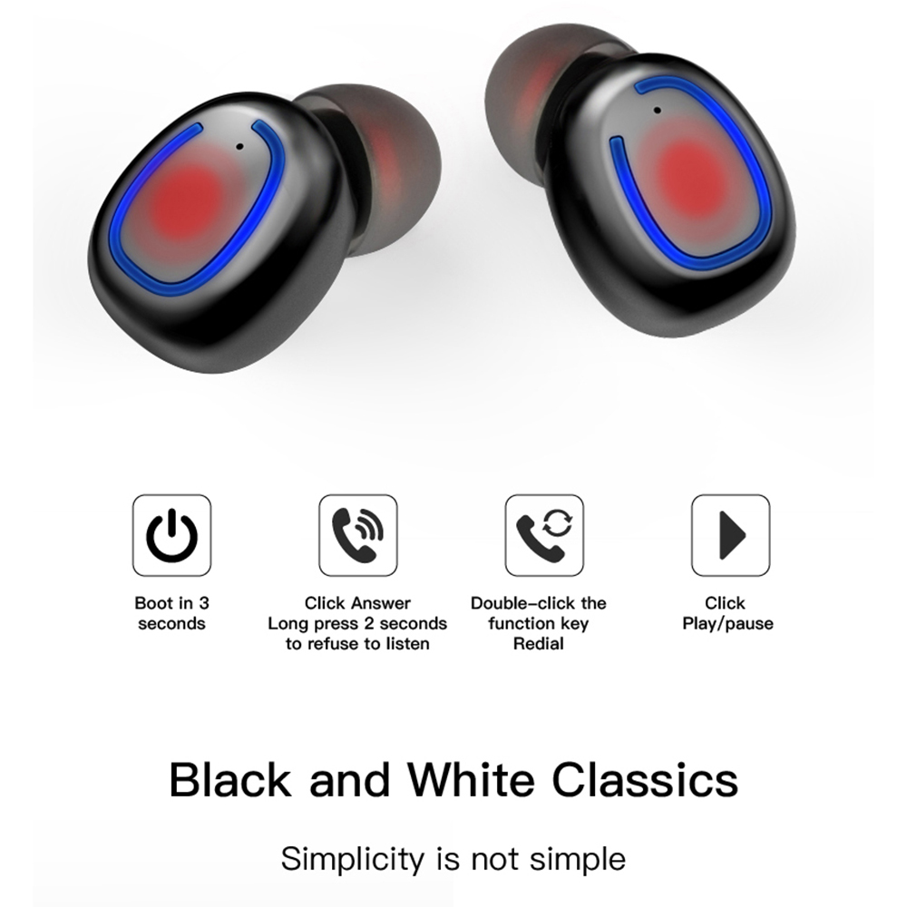 Bluetooth 5.0 Earbuds TWS Wireless Headphones Waterproof Earphones with Mic Charging Case Stereo Headset CVC8.0 Noise Reduction