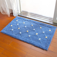 1Pcs New Fashion Water Absorption Anti Skid Door Mat Tread Mats Flower Design Carpet Floor Rug