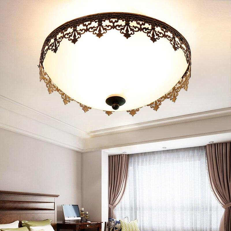 US $138.0 |Nordic ferro modello Plafoniere camera da letto semplice stanza  dei bambini study room lampade e lanterne originalità LU825461-in ...