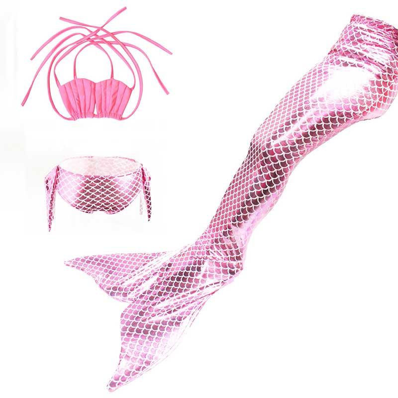 3 шт./компл. 8 цветов маленькая русалка хвост костюм принцессы ариэль детская хвост русалки косплэй для детей девушка фантазии купальник