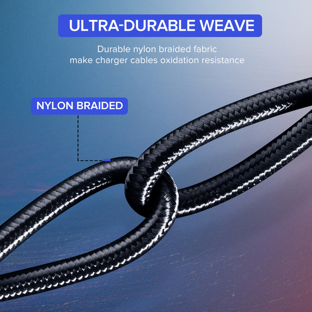 3 A Fast charging Type-C Cable for Phones and Tablets