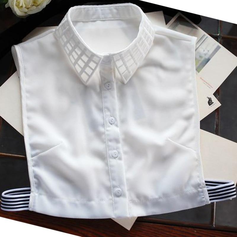 Kézzel készített divatos pulóver, kiváló minőségű blúz, levehető, hamis hamis galléros tavaszi pedál gyöngyvirág gyökér fonal gallér