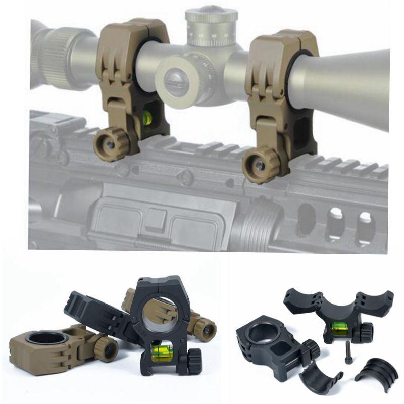 새로운 도착 M10 QD 30mm 25mm 링 손전등 범위 레이저 마운트 20mm picatinny 위버 레일 ht233에 대 한 정신 수준