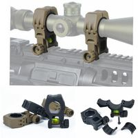 New arrival M10 QD 30mm 25mm Ring Flashlight Scope Laser Mount With Spirit Level For 20mm picatinny weaver rail ht233
