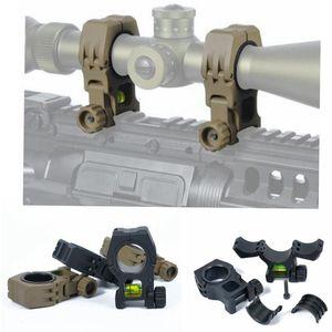 Táctico M10 QD 30mm 25mm anillo para linterna alcance láser montaje con nivel de 20mm riel Picatinny Weaver carril ht233