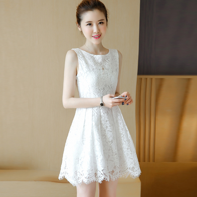 Aliexpress Buy White Lace Dress Plus Size Sundress Korean