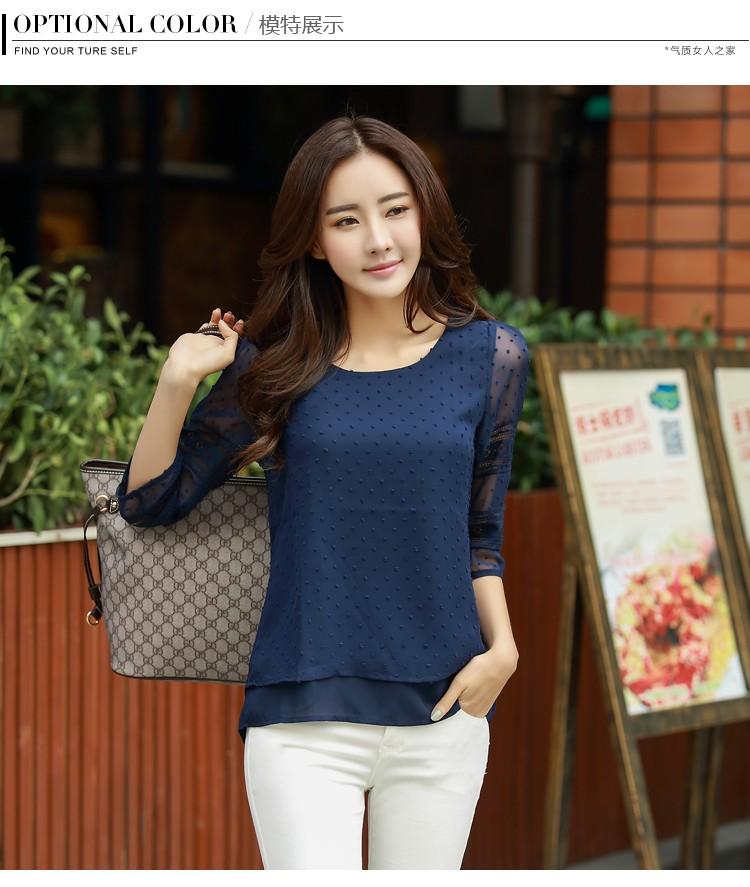 HTB1MTkeLVXXXXb0aXXXq6xXFXXXE - women blusas lace half sleeve chiffon blouses shirts women