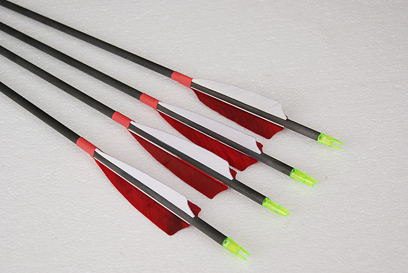 Elong 100% pure carbon fiber arrow 12 pcs shaft length 30 spine 340 turkey feather + 1 piece broadhead archery bow hunting полусапоги резиновые quelle pink frost 1031423