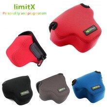 Bolsa de câmera para fujifilm, capa macia para modelos X T100 X T200 X T30 xt30 X A7 X A5 X A20 xa3 xa2 xa7 xa5 xa20 lente com xc 15 45mm