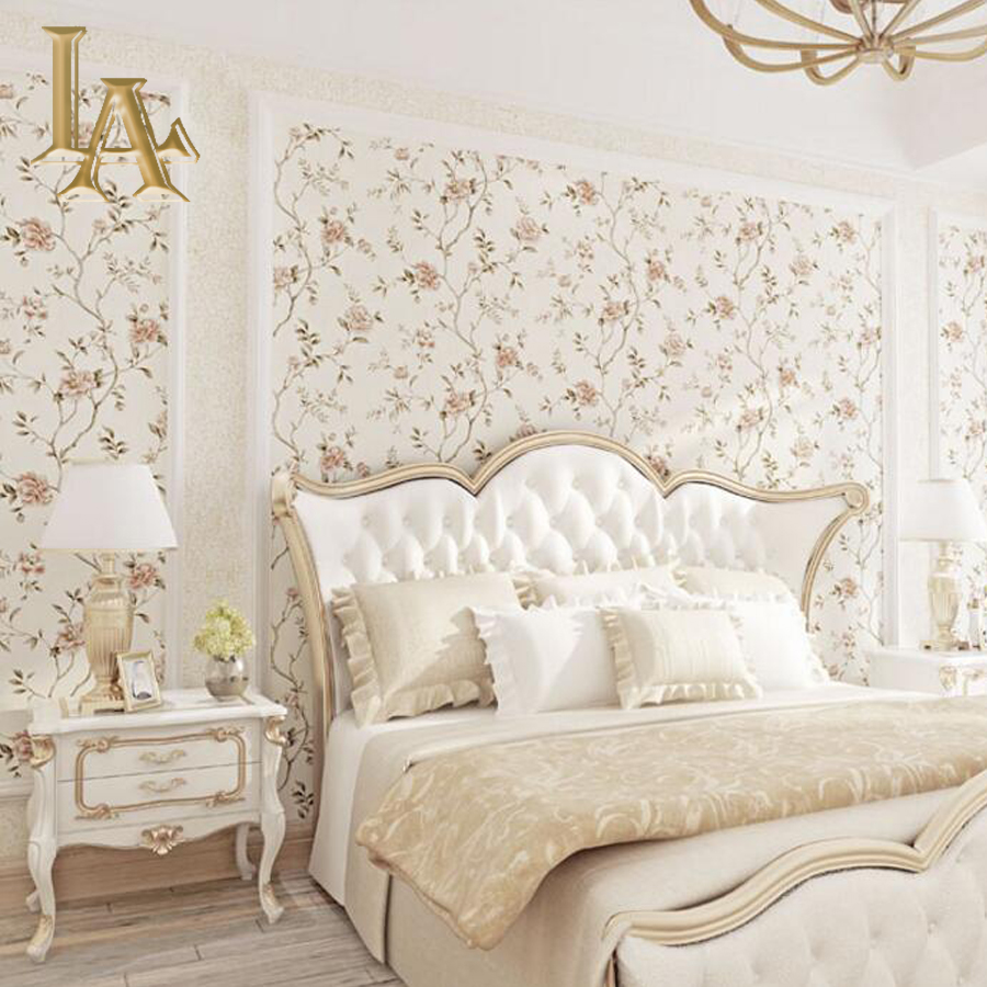 European Pastoral Floral Wallpaper For Walls Bedroom Living room Background Home Decor Embossed 3D Wall paper Rolls shinehome black white cartoon car frames photo wallpaper 3d for kids room roll livingroom background murals rolls wall paper