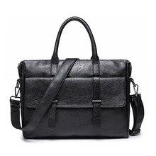 Office Bags for Men Office Bag Werktas Men's Briefcase Portafolio Maletin Para Hombres Black PU Leather Business Work Handbag