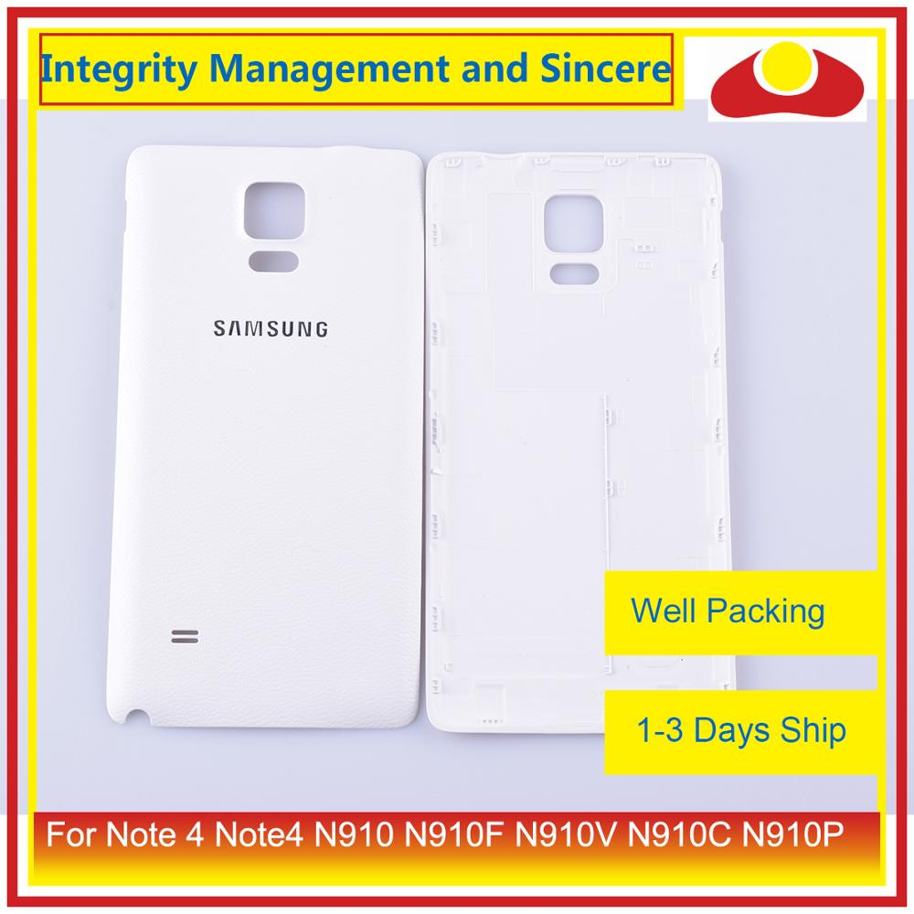 Image 2 - 10Pcs/lot For Samsung Galaxy Note 4 Note4 N910 N910F N910V N910C N910P Housing Battery Door Rear Back Cover Case Chassis Shell-in Mobile Phone Housings & Frames from Cellphones & Telecommunications