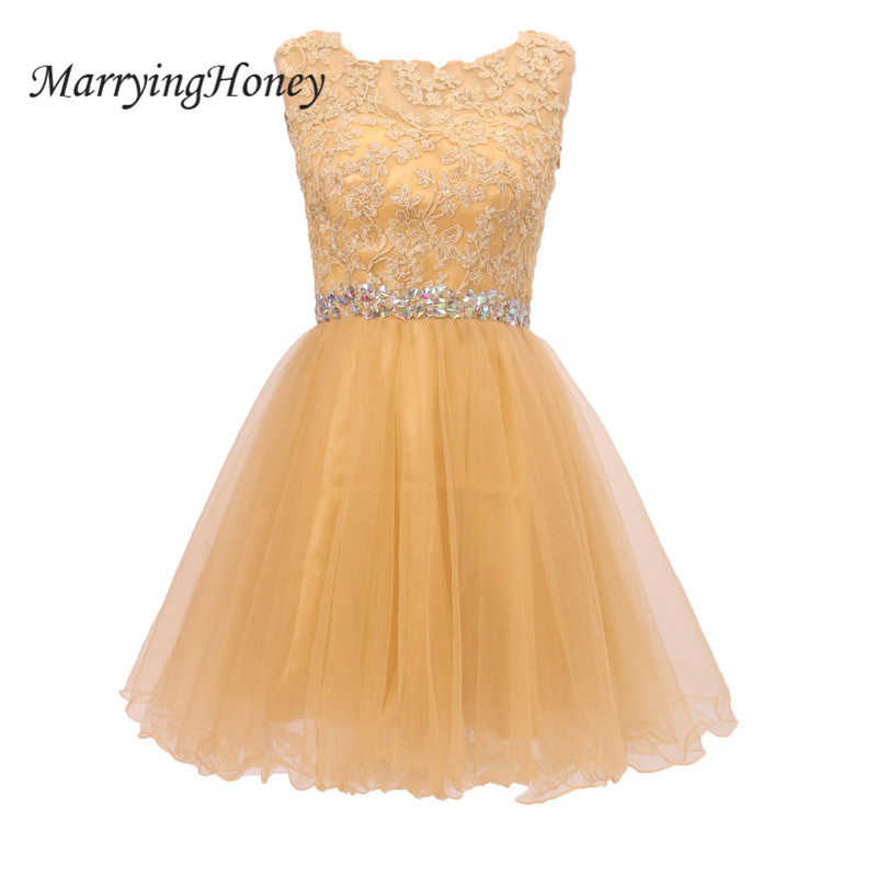 2017 Real Photo Orange Cut Back Short Homecoming Dresses Crystal Sash Lace A-line Party Gowns Robe De Soiree