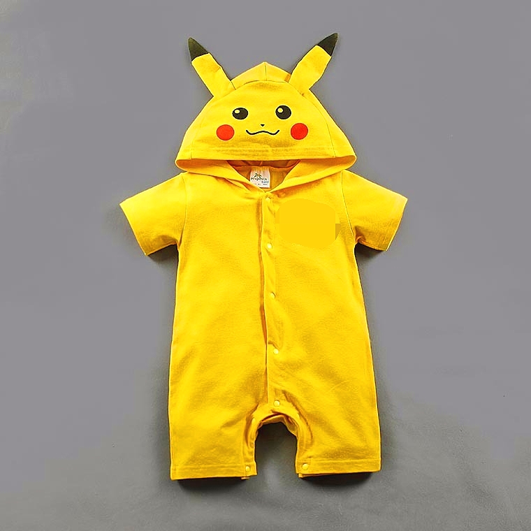 Pikachu baby   rompers   baby girl boy clothes cartoon lovely jumpsuit for newborn babies summer bebe roupas bodykit baby onesie