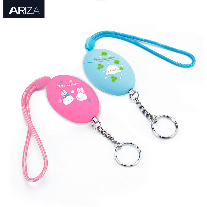 Ariza 2pcs Personal Panic Alarm Self Defense Mini Keychain Alarm Emergency Security Protection Alarm With Keyring For Women