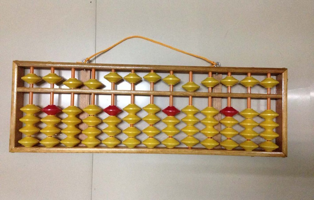 high quality 13 column wood hanger big size Abacus Chinese soroban Tool In Mathematics Education for