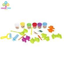 DIY 6 Цвет Пластилина Пластилин Плесень Play Set Обучения Образовательные Игрушки для Детей