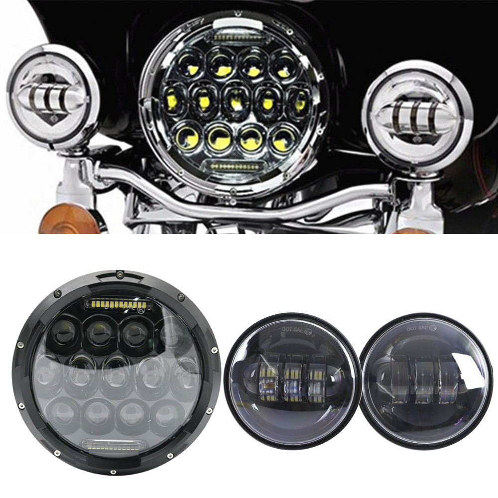 For Yamaha Royal Star Venture XVZ1300 For Harley 75W 7 Inch LED Motorcycle Moto Headlight 7