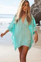 Для женщин летнее платье V Средства ухода за кожей Шеи кафтан кимоно платье Парео Пляж Саида de Praia ванный комплект