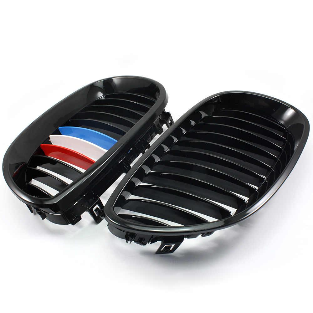 Untuk BMW E60 4D 5 Series 2003-2009 2004 2005 2006 2007 2008 Gloss Hitam M Warna Depan Ginjal pemanggang Kisi-kisi D30