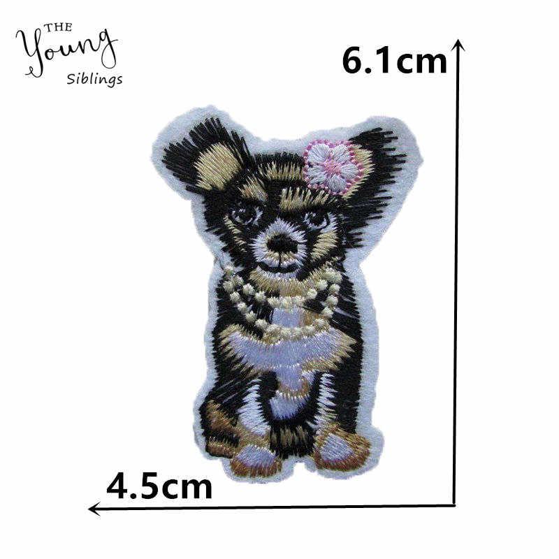 לערבב אופנה חמה להמיס דבק תיקוני חמוד בעלי החיים חתול כלב רקום אפליקצית תג DIY מדבקות שמלות בגדי אביזרים