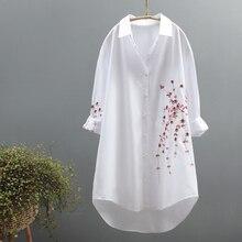 cotone a ricamo shirt