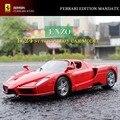 2016 New Kids Juguetes Enzo Ferrar 1:24 Escala Modelo Estático Aleación a Troquel Modelo Super Coche Rojo Por Bburago