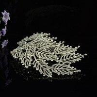 Folha Designs Dubai Jóias Vintage Rhinestone Cristal Nupcial Cabelo Pente Do Cabelo Do Casamento Pente de Cabelo para Noivas Jóias Venda Quente