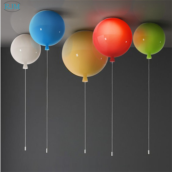 Modern Simple Color Balloon Ceiling Lamp Creative Glass Children's Room LED Ceiling Light Bedroom Aisle Restaurant Luminaries