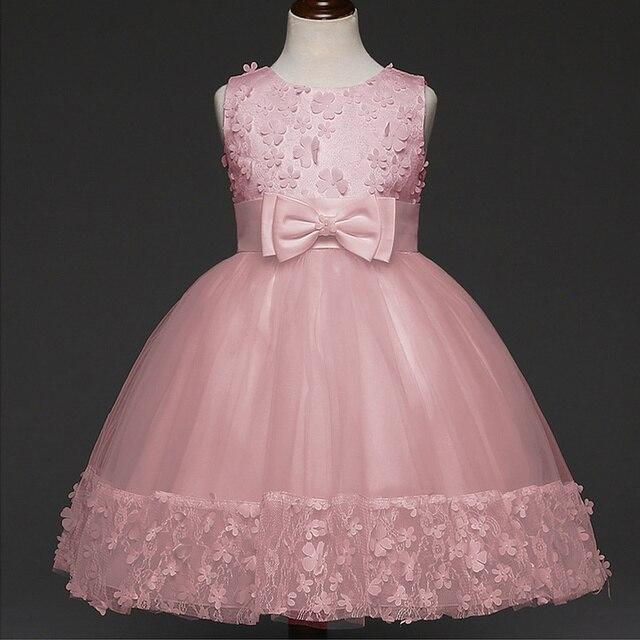1526eb8a633 Formelle Robe De Soirée Fleur De Mariage Princesse Robe Filles Enfants  Vêtements Enfants Robes pour Fille