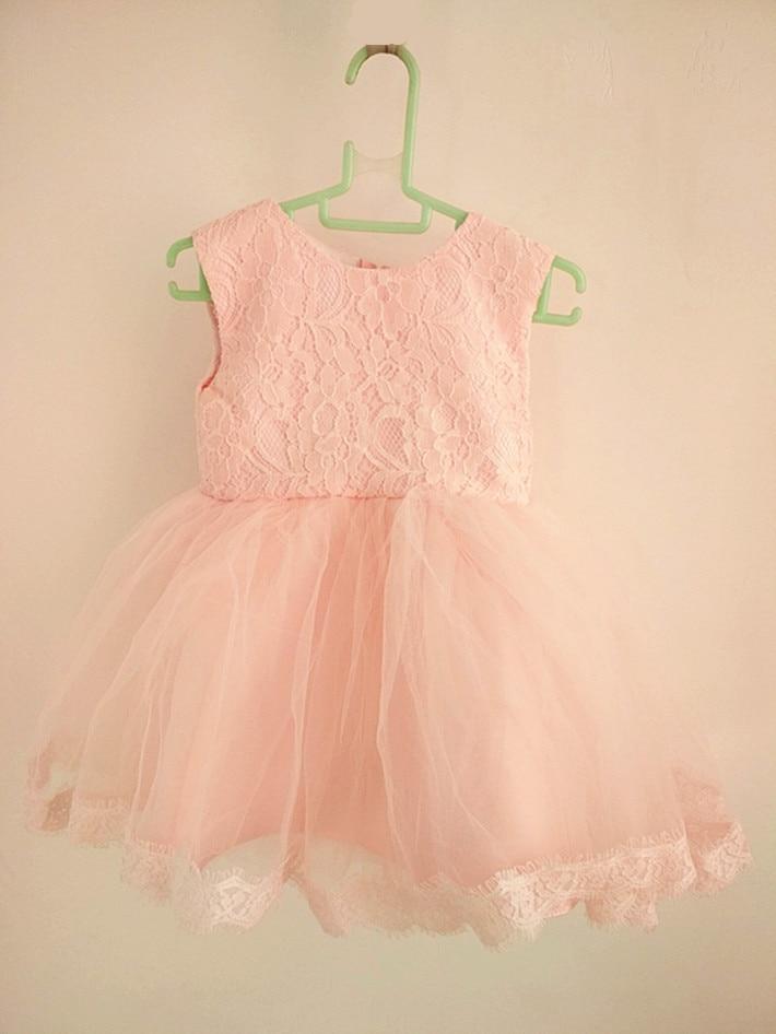 BBWOWLIN Pink Baby Girl Christmas Dress för 1 års födelsedagsfest - Babykläder