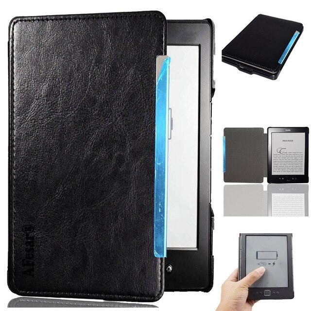 Чехол-книжка чехол для Amazon Kindle 4 Kindle 5 D01100 чтения электронных книг высокого качества искусственная кожа сумка в виде кармана мешок folio чехол + Защитная пленка на экран