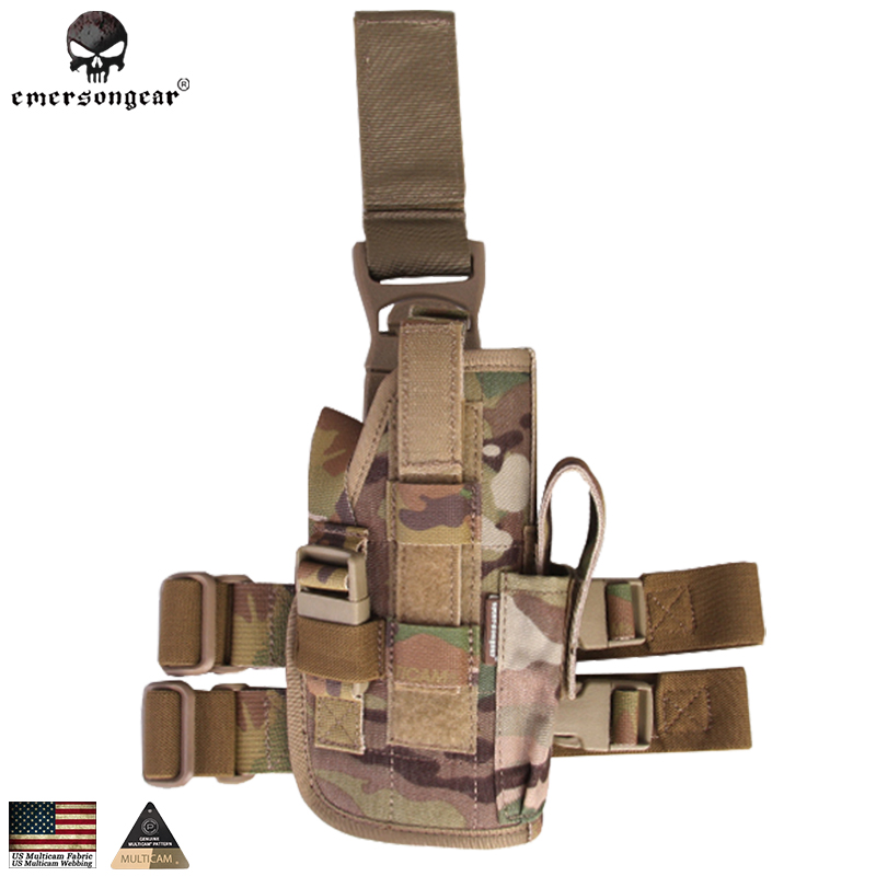 Aggressive Emersongear Sales Leg Holster Tornado Universal Tactical Thigh Pouch Nato Style Right Hand Left Hand Gun Holder Em6201 Elegant In Smell Home