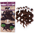 "EVET Brazilian Body Wave Virgin Sweet Hair Extensions 2x12"" 2x14"" 2x16"" 6Pcs Virgin Body Wave Human Hair Weaves 200g/Set"
