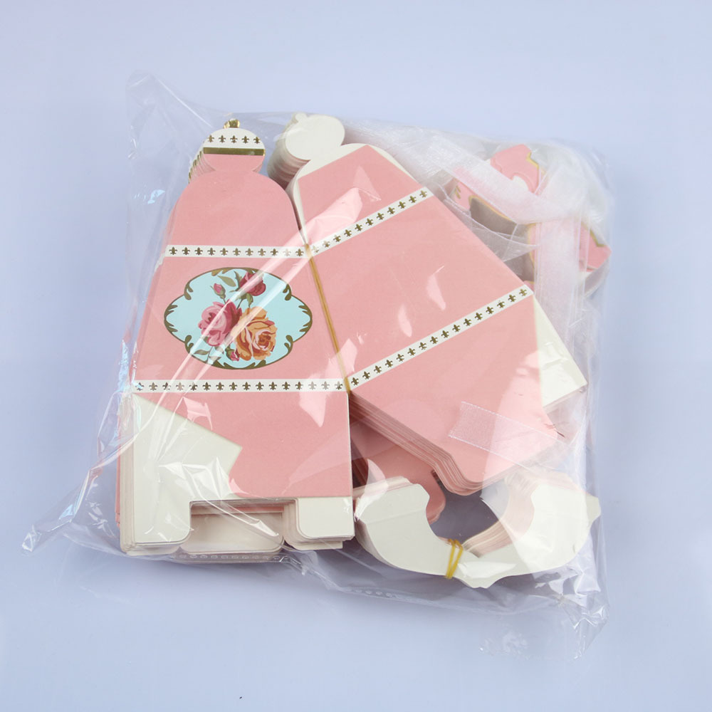 50pcs Teapot Candy Box With Ribbon Gift Cake Candies Packaging Boxes ...