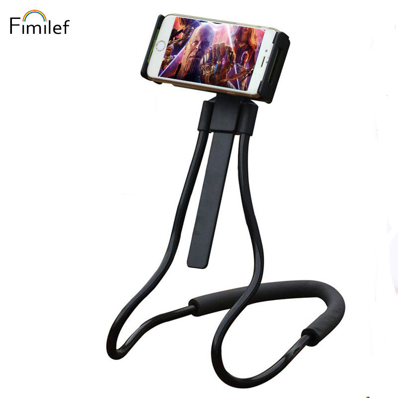 Fimilef Lazy Neck Phone Holder for iPhone Samsung Flexible Lazy Phone Holder Table Desktop Phone Stand Clip Bracket for Huawei in Phone Holders Stands from Cellphones Telecommunications