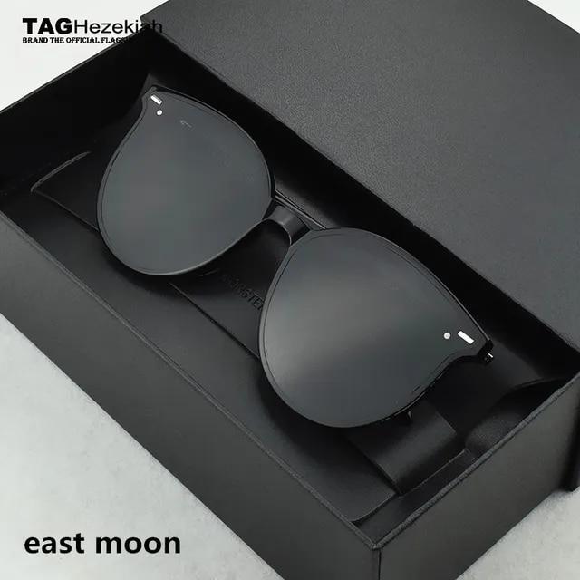 Round New 2019 gentle Fashion Women Colour Luxury Flat Top Cat Eye Sunglasses Elegant oculos de sol men oversized Sun glasses