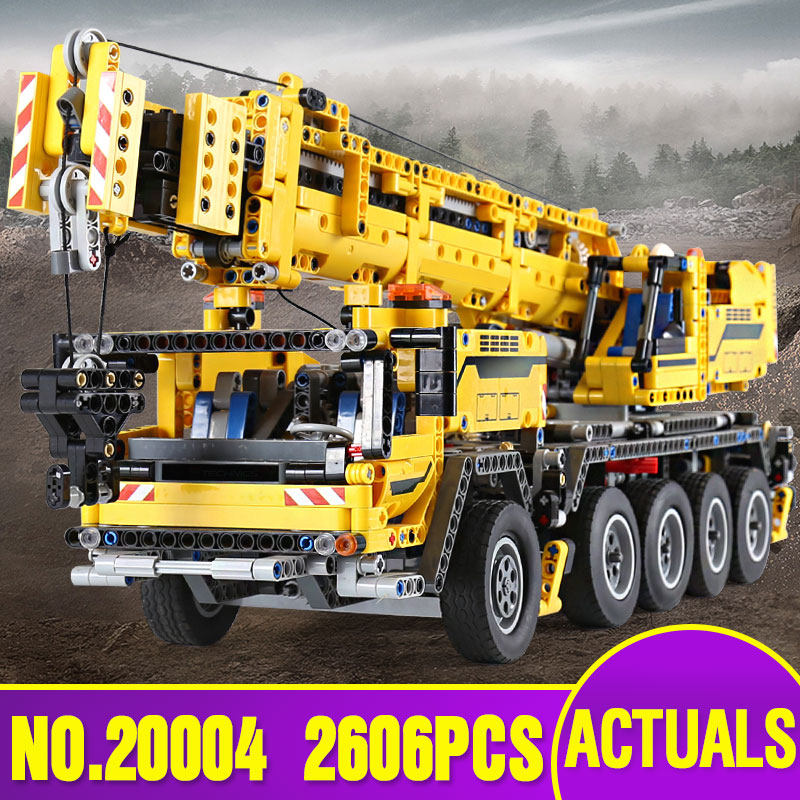 L Models Building toy Compatible with Lego L20004 2606Pcs Crane Blocks Toys Hobbies For Boys Girls Model Building Kits