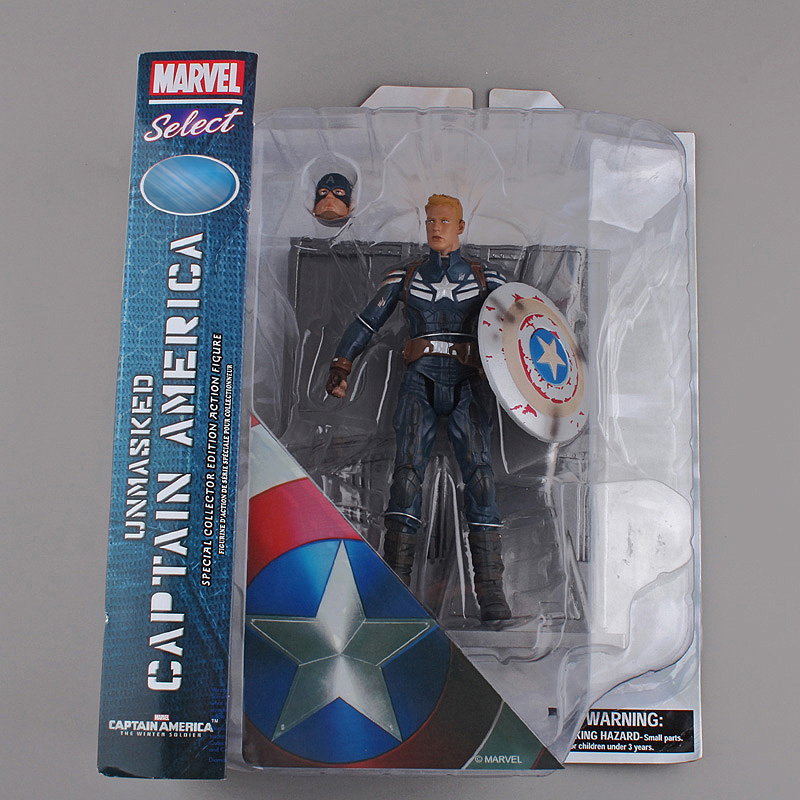 "<font><b>Marvel</b></font> <font><b>Select</b></font> <font><b>Captain</b></font> <font><b>America</b></font> The Winter Soldier PVC <font><b>Action</b></font> <font><b>Figure</b></font> Collectible Model Toy 7"" 18cm 2 Styles"