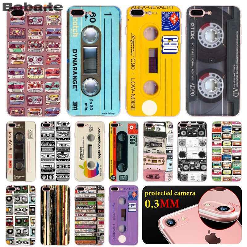 Babaite Vintage bande magnétique Cassette bricolage impression dessin coque housse de téléphone pour iPhone 8 7 6 6S Plus X XS MAX 5 5S SE XR